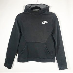 Nike Tech Black Extended Neck Athletic Hoodie